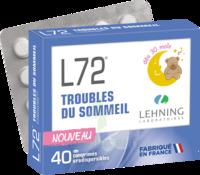 Lehning L72 Comprimés Orodispersibles Plq Pvc/pvdc/alu/40 à SAINT-GEORGES-SUR-BAULCHE