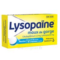 LysopaÏne Comprimés à Sucer Maux De Gorge Sans Sucre 2t/18 à SAINT-GEORGES-SUR-BAULCHE