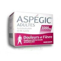 Aspegic Adultes 1000 Mg, Poudre Pour Solution Buvable En Sachet-dose 20 à SAINT-GEORGES-SUR-BAULCHE