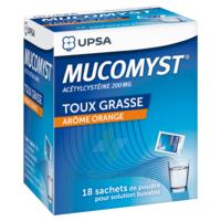 MUCOMYST 200 mg Poudre pour solution buvable en sachet B/18 à SAINT-GEORGES-SUR-BAULCHE