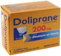 Doliprane 200 Mg Poudre Pour Solution Buvable En Sachet-dose B/12 à SAINT-GEORGES-SUR-BAULCHE