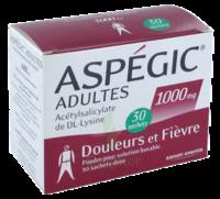 Aspegic Adultes 1000 Mg, Poudre Pour Solution Buvable En Sachet-dose 30 à SAINT-GEORGES-SUR-BAULCHE