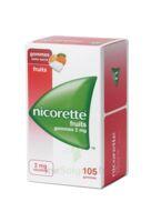 Nicorette 2 Mg Gomme à Mâcher Médicamenteuse Sans Sucre Fruits Plq/105 à SAINT-GEORGES-SUR-BAULCHE