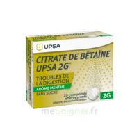 Citrate De Bétaïne Upsa 2 G Comprimés Effervescents Sans Sucre Menthe édulcoré à La Saccharine Sodique T/20 à SAINT-GEORGES-SUR-BAULCHE