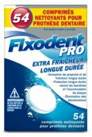 Fixodent Pro Comprimés Nettoyant Fraîcheur Longue Durée Pour Prothèse Dentaire B/54 à SAINT-GEORGES-SUR-BAULCHE