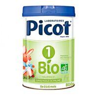 Picot Bio 1 Lait Poudre B/800g à SAINT-GEORGES-SUR-BAULCHE