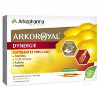 Arkoroyal Dynergie Ginseng Gelée Royale Propolis Solution Buvable 20 Ampoules/10ml à SAINT-GEORGES-SUR-BAULCHE