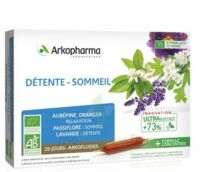 Arkofluide Bio Ultraextract Solution Buvable Détente Sommeil 20 Ampoules/10ml à SAINT-GEORGES-SUR-BAULCHE