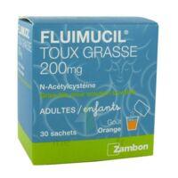FLUIMUCIL EXPECTORANT ACETYLCYSTEINE 200 mg SANS SUCRE, granulés pour solution buvable en sachet édulcorés à l'aspartam et au sorbitol à SAINT-GEORGES-SUR-BAULCHE