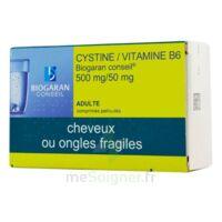 Cystine/vitamine B6 Biogaran Conseil 500 Mg/50 Mg Cpr Pell Plq/120 à SAINT-GEORGES-SUR-BAULCHE