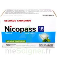 Nicopass 1,5 Mg Pastille Sans Sucre Menthe Fraîcheur Plq/96 à SAINT-GEORGES-SUR-BAULCHE