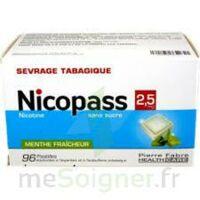 Nicopass 2,5 Mg Pastille Menthe Fraîcheur Sans Sucre Plq/96 à SAINT-GEORGES-SUR-BAULCHE