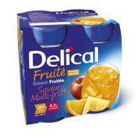 Delical Boisson Fruitee Nutriment Multi Fruits 4bouteilles/200ml à SAINT-GEORGES-SUR-BAULCHE