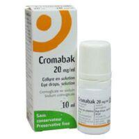 Cromabak 20 Mg/ml, Collyre En Solution à SAINT-GEORGES-SUR-BAULCHE