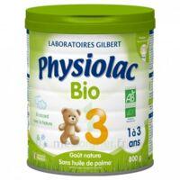 Physiolac Lait Bio 3eme Age 900g à SAINT-GEORGES-SUR-BAULCHE
