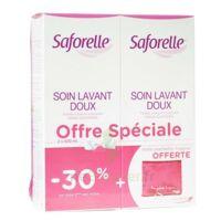 Saforelle Solution soin lavant doux 2*500ml+pochette à SAINT-GEORGES-SUR-BAULCHE