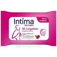 Intima Gyn'expert Lingettes Cranberry Paquet/30 à SAINT-GEORGES-SUR-BAULCHE