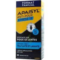 Apaisyl Anti-poux Xpress 15' Lotion Antipoux Et Lente 100ml+peigne à SAINT-GEORGES-SUR-BAULCHE