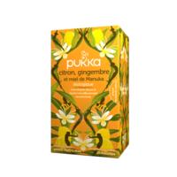 Pukka Bio Citron, Gingembre Et Miel De Manuka Tisane Immunité Citron Gingembre Miel De Manuka 20 Sachets à SAINT-GEORGES-SUR-BAULCHE