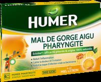 Humer Pharyngite Pastille Mal De Gorge Miel Citron B/20 à SAINT-GEORGES-SUR-BAULCHE